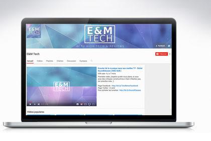 Logo, bannière et introduction animée YouTube