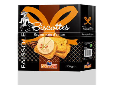 Packaging Biscottes au pain d'épices