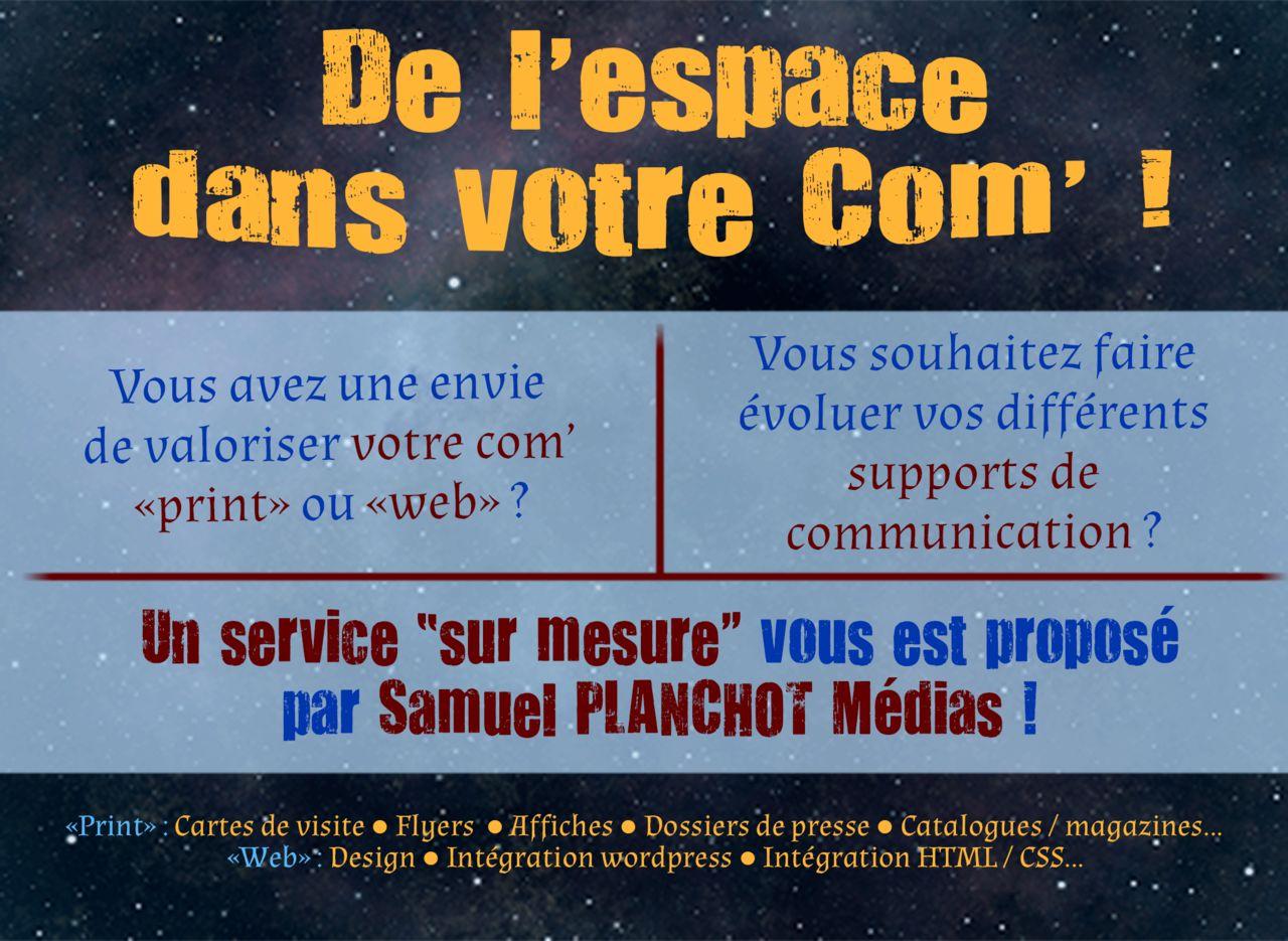 Publicité Samuel PLANCHOT Médias