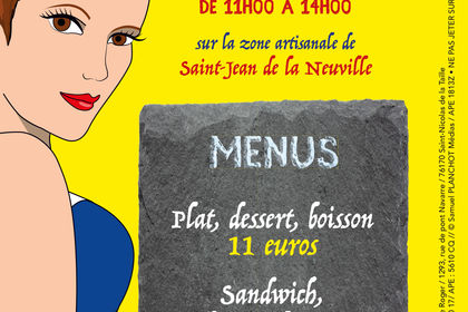 Flyer Les petits plats de Violaine V°