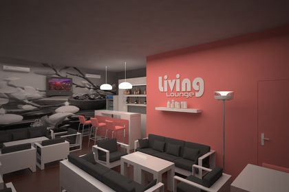 Aménagement bar (Living Lounge)