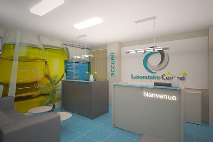 Aménagement front office laboratoire d'analyse