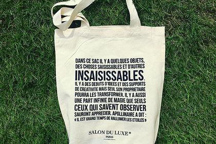 ToteBag Salon du luxe Paris 2016