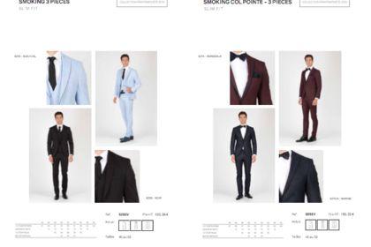 Mise en page catalogue de BtoB costume homme