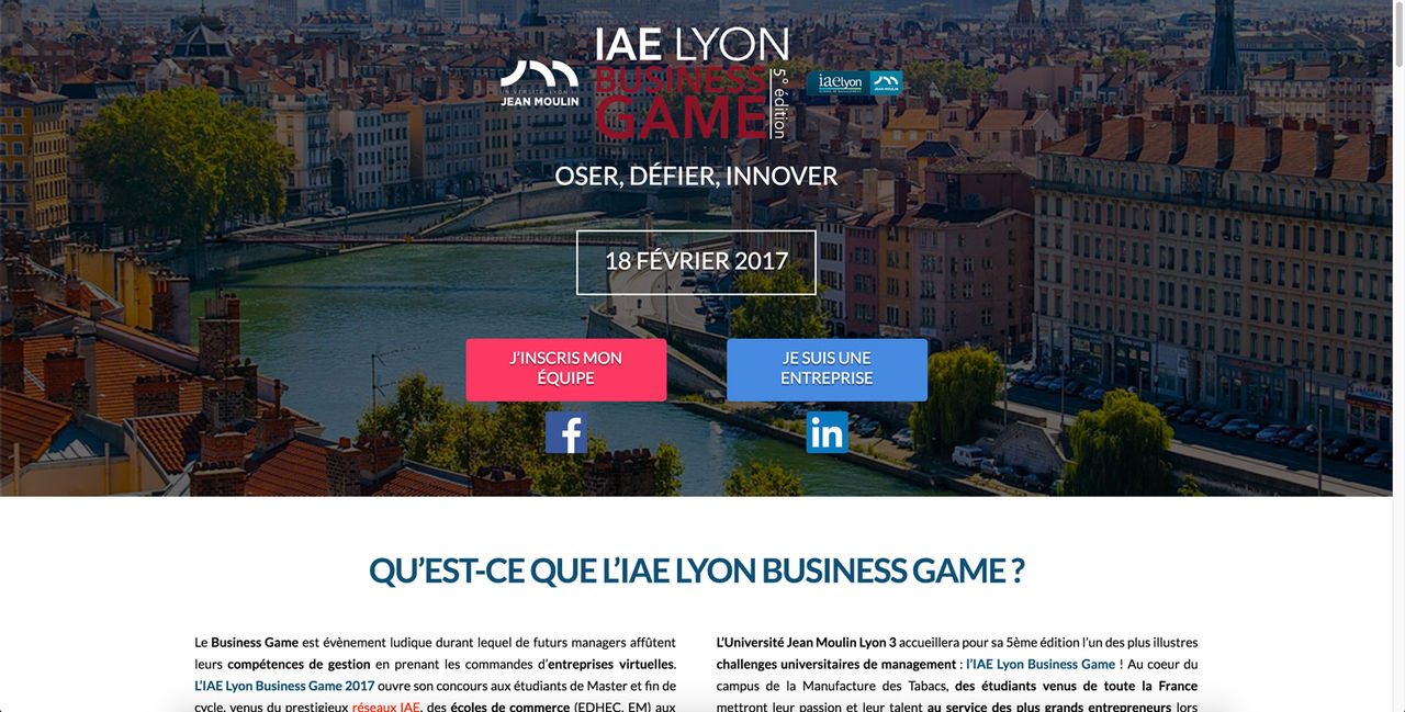 IAE Lyon Business Game