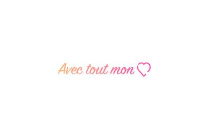 Logo - Avec tout mon coeur