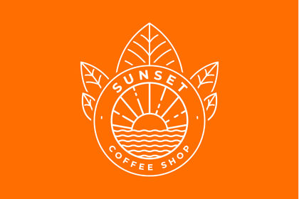 Logo Sunset Coffee shop