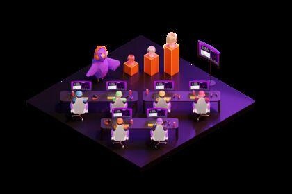 3D isométrique pour un site web