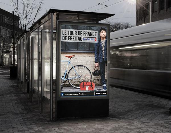 Affiche du tour de France de Freitag