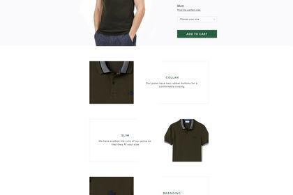 Redesign de la boutique Lacoste