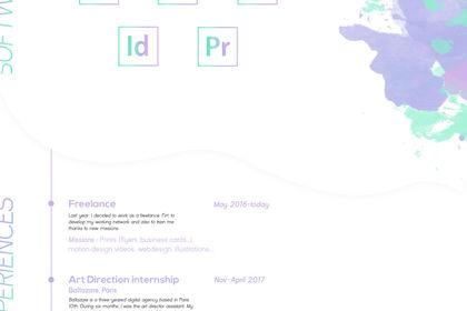 CV type maquette web
