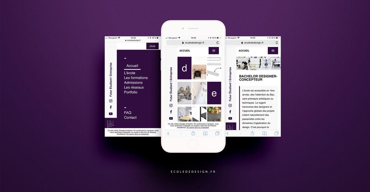 Site internet Ecole superieure de design