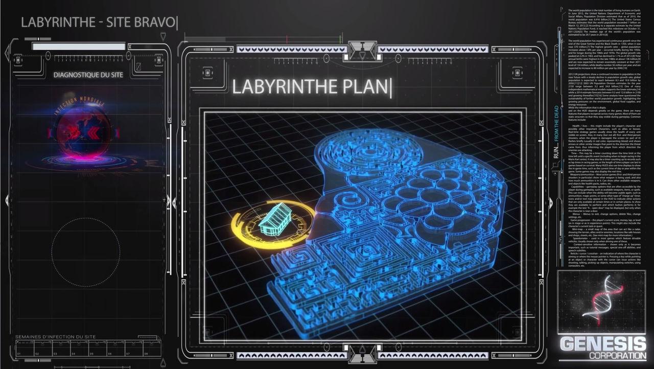 Animation interface futuristique et logo