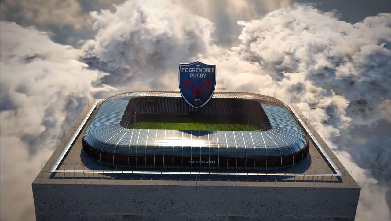 Animation de logo 3D pour équipe de rugby