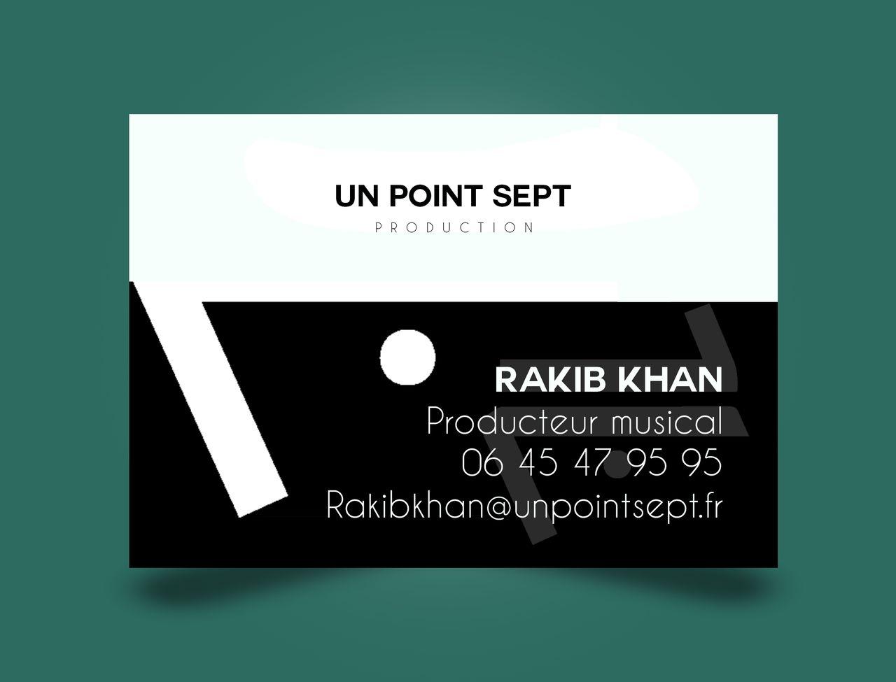 Carte de visite / production de musique