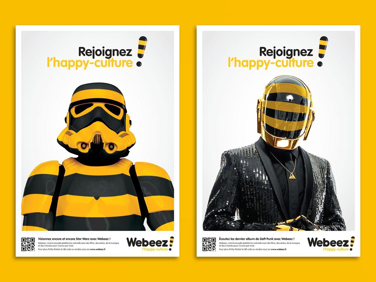 Campagne d'affichage Webeez
