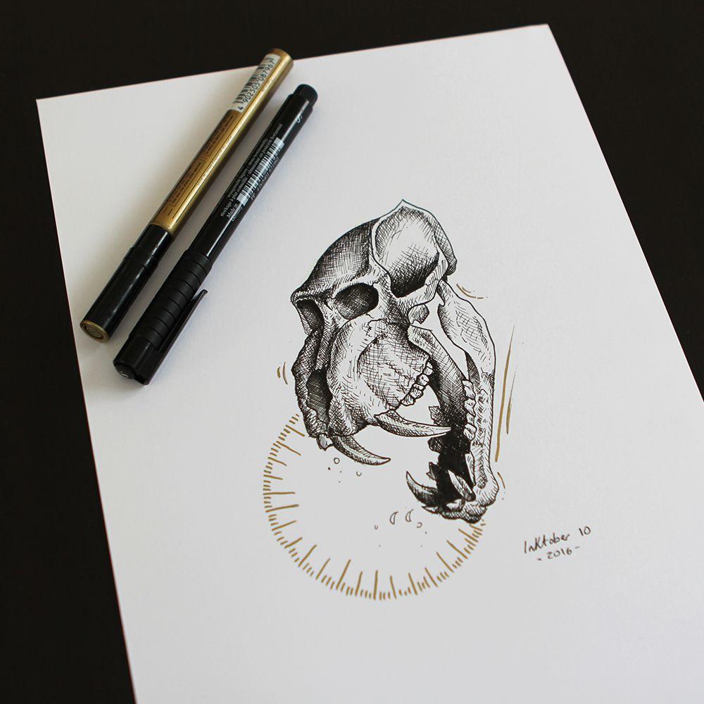 Illustration Crâne Singe