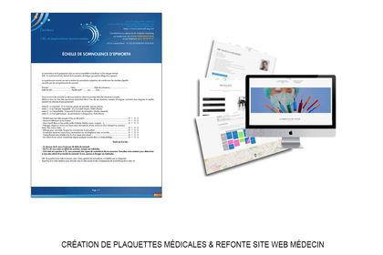 Plaquettes médicales + Refonte Site Web