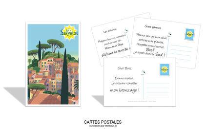 Cartes postales alimentaires et boissons