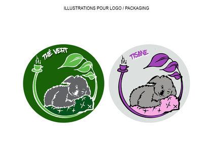 Illustrations pour logo et packaging