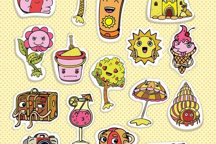 Stickers d'été