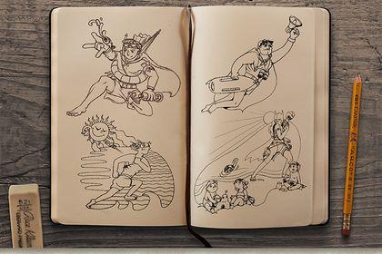 Super-héros de la plage