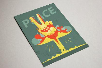 """Une affiche  sous le nom de """"Peace"""""""