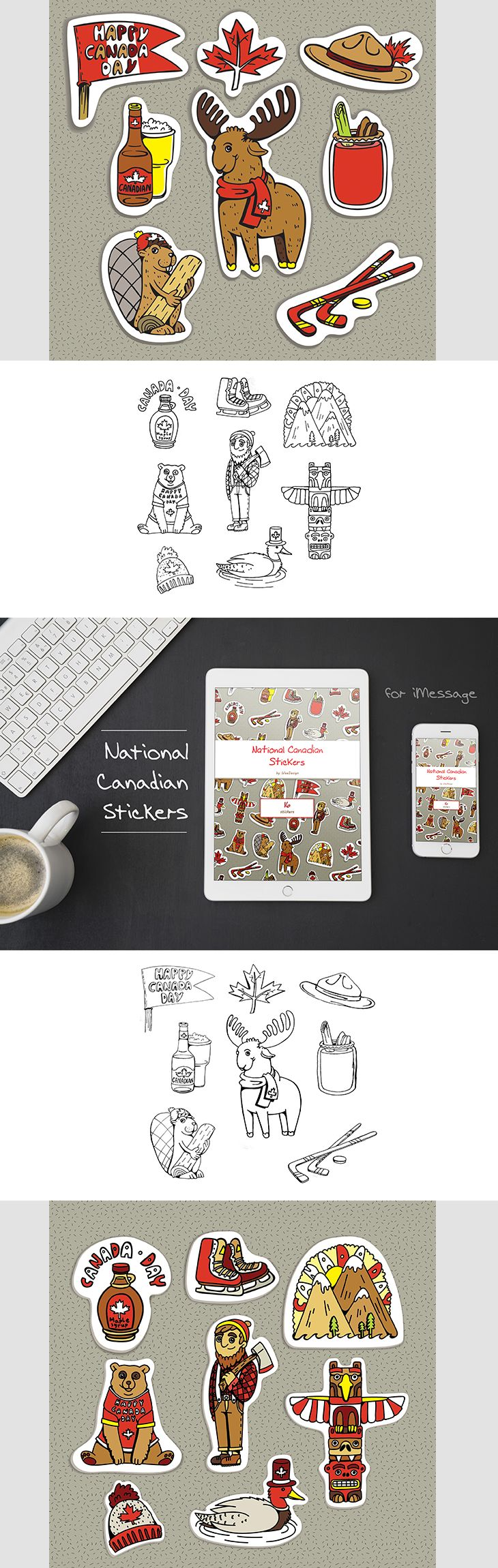 Stickers Nationaux Canadien