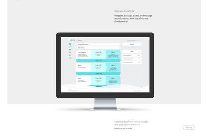 Le concept du site pour Skyvia