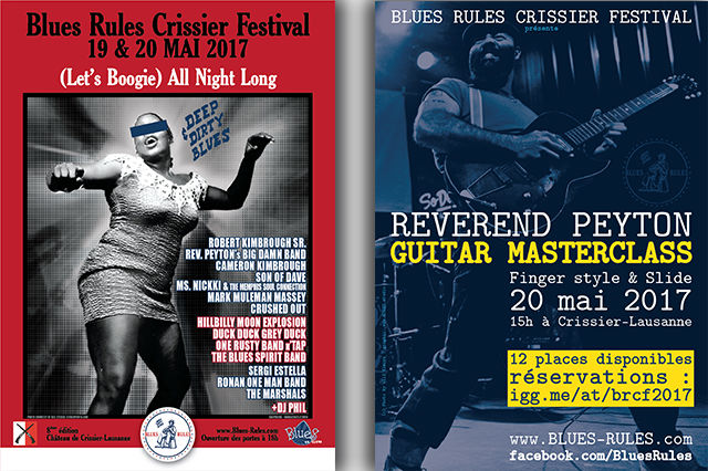 Posters BLUES RULES CRISSIER FESTIVAL