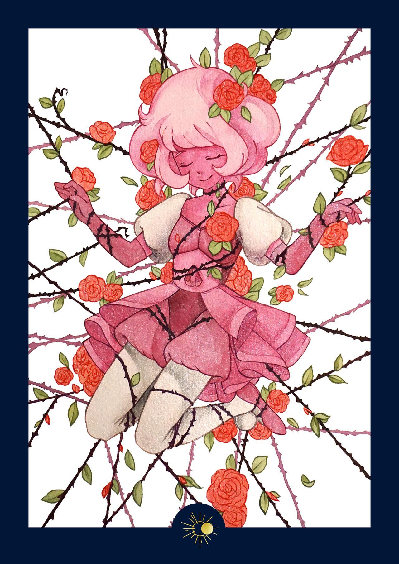 Aquarelle Diamant Rose
