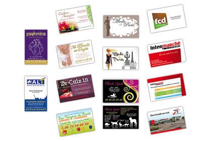 Différentes cartes de visite