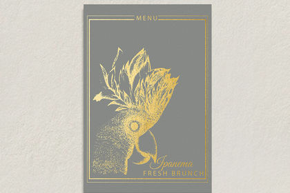 Illustration cate / menu restaurant