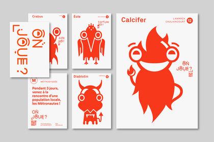 Affiches + flyers : Les Métronautes !