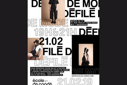 Affiche - Défilé de Mode, Ecole de Condé Paris