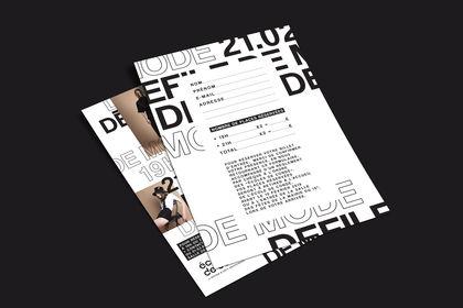 Flyer - Défilé de Mode pour l'Ecole de Condé Paris