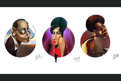 Illustration - Portraits numériques