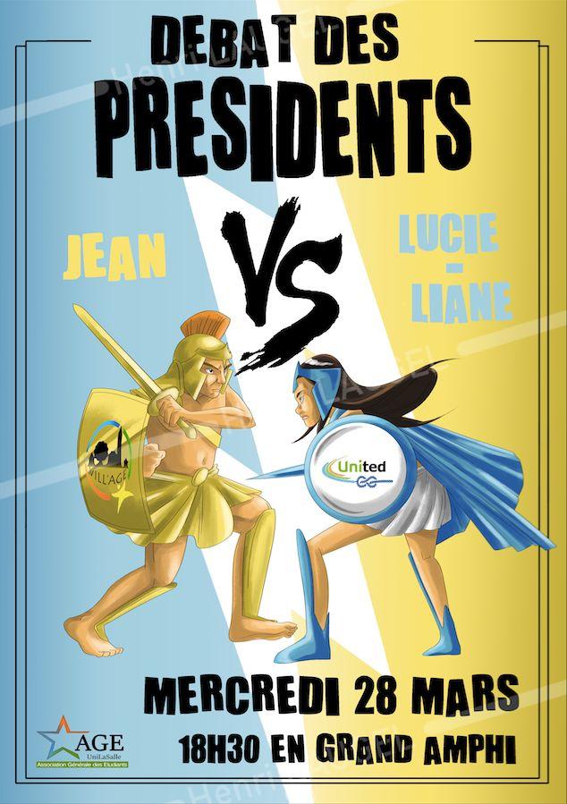 Affiche Débat des présidents