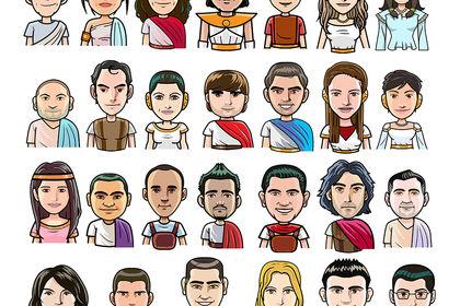 Avatars style cartoon
