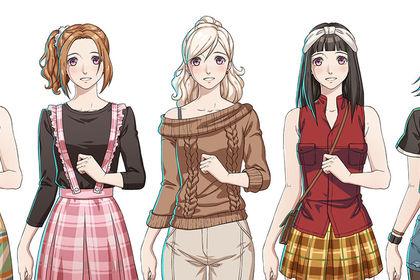 Anime/manga characters pour jeu mobile