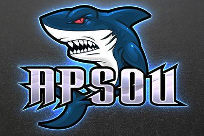 Esport logo- requin
