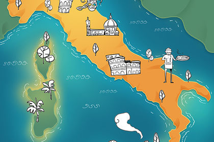Esquisse carte Italie