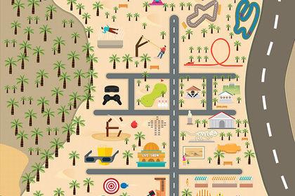 Carte Parc Attraction Abu Dhabi
