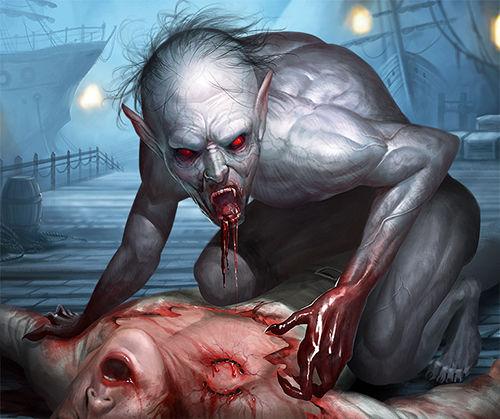 Illustration - Créature vampirique