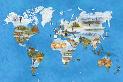 Carte du monde : Ultra Trail et Trail
