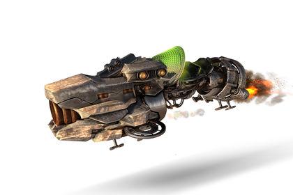 Moto Futuriste en 3D