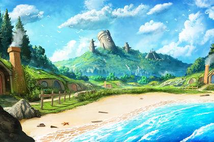 "Paysage fantastique style ""Anime"""