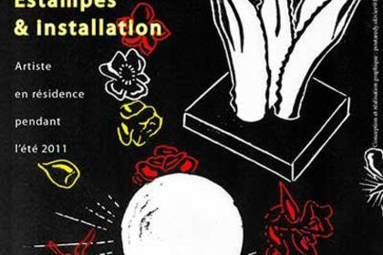 Affiche exposition d'artiste