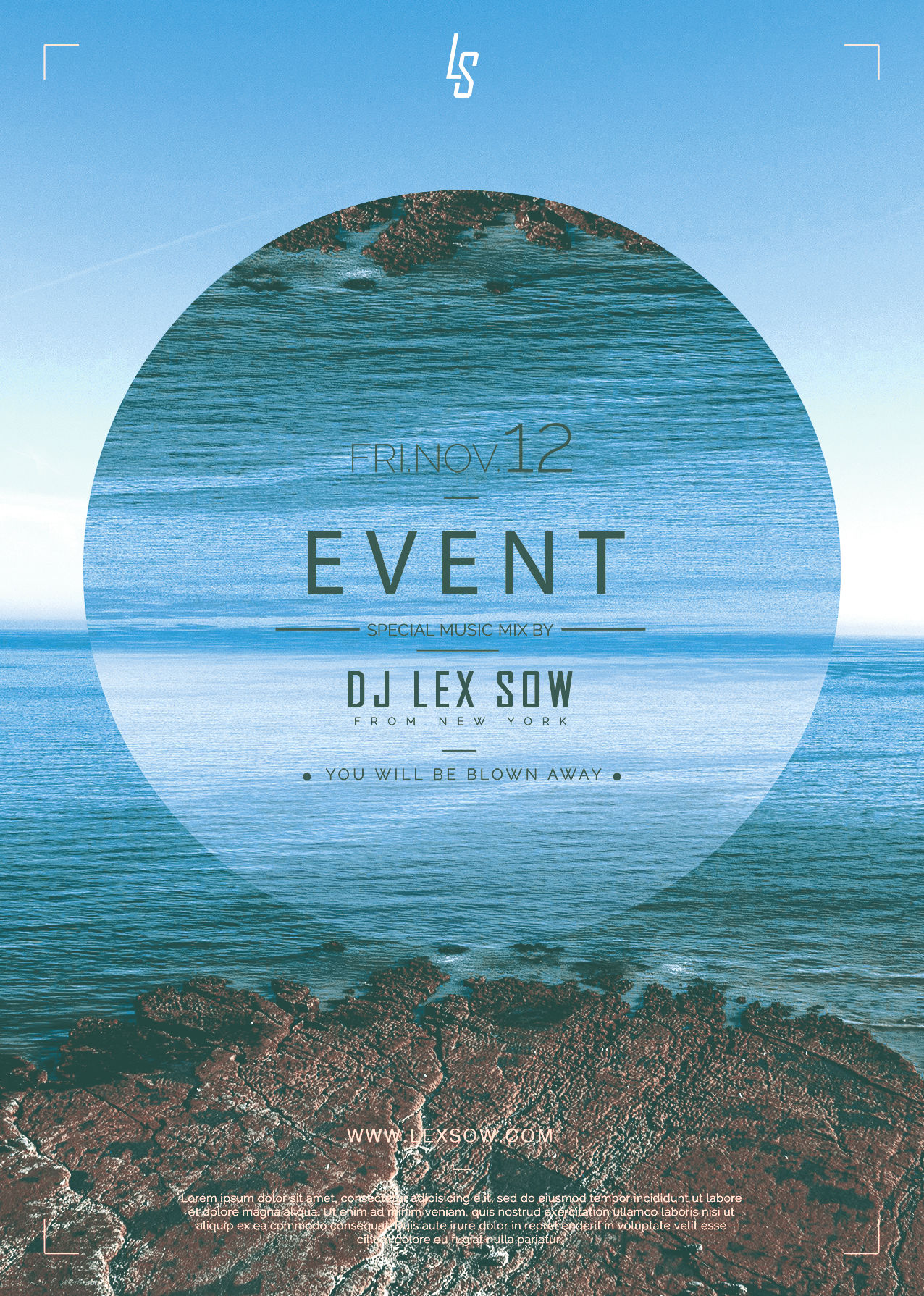 Flyer event by Lex Sow