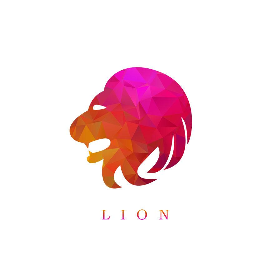 Lion logo by Lex Sow